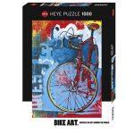 Rompecabezas Bike Art: Red Limited 1000 piezas Heye