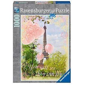 Rompecabezas Globos y Torre Eiffel 1000 piezas Ravensburger