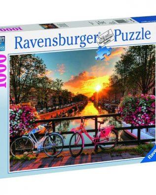 Rompecabezas Bicicletas en Amsterdam 1000 piezas Ravensburger