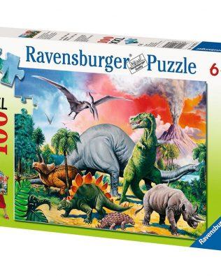 Rompecabezas Dinosaurios Entre Dinosaurios 100 piezas Ravensburger