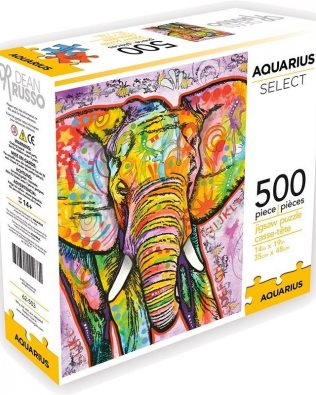 Rompecabezas Elefante Dean Russo 500 Piezas Aquarius