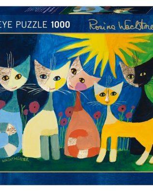 Rompecabezas Gatos Under The Rainbow Rosina 1000 piezas Heye