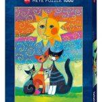 Rompecabezas Gatos bajo el Sol Rosina 1000 piezas Heye