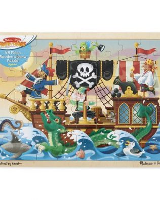 Rompecabezas de Madera Aventura Pirata 48 piezas Melissa and Doug
