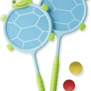 SET DE RAQUETA Y PELOTA DE TORTUGA - MELISSA AND DOUG