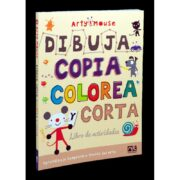 Arty mouse Dibuja Copia Colorea y Corta Novelty