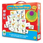 Escucha y juega con el bingo de la granja - The learning journey