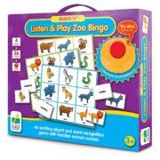 Escucha y juega con el bingo del zoologico - The Learning Journey
