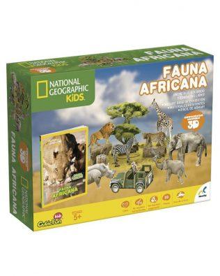 Libro con Rompecabezas 3D Fauna Africana – Novelty