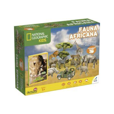 LIBRO CON ROMPECABEZAS 3D FAUNA AFRICANA NOVELTY