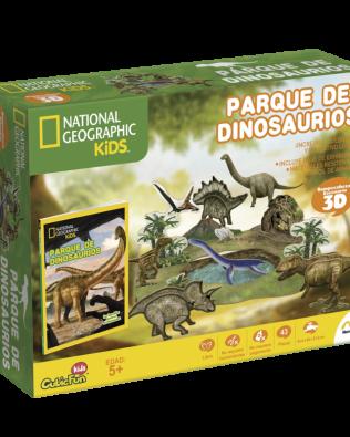 Libro con Rompecabezas 3D Parque de Dinosaurios Novelty