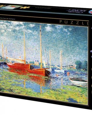 Rompecabezas: Argenteuil (Los Botes Rojos) De Claude Monet (D-TOYS)
