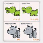 Memoria de Animales en Español-Ingles