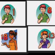 FLASH CARDS NUMEROS DEL 1-50 (LENGUAJE DE SORDOMUDOS)