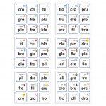 Loteria de Silabas Compuestas o Trabadas – Via Aprende