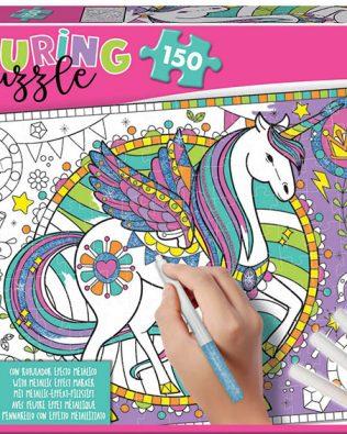 Rompecabezas Para Colorear de Unicornio (Colouring) – Educa
