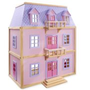 CASA DE MUÑECAS DE MADERA COLOR ROSA - MELISSA AND DOUG
