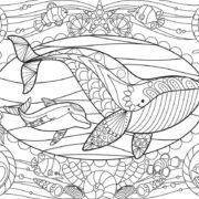 ROMPECABEZAS DE 150 PIEZAS PARA COLOREAR DE VIDA MARINA (COLOURING) - EDUCA
