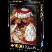 ROMPECABEZAS DE 1000 PIEZAS DE DOS NIÑAS LEYENDO DE RENOIR - D TOYS