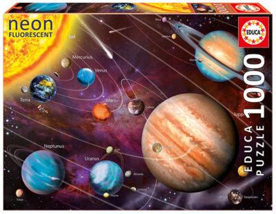 ROMPECABEZAS DE 1000 PIEZAS DE SISTEMA SOLAR (NEON) - EDUCA