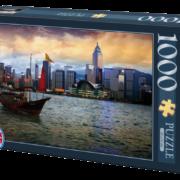 ROMPECABEZAS DE 1000 PIEZAS DE VISTA DE NOCHE EN HONG KONG - D TOYS
