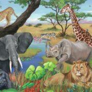 ROMPECABEZAS DE 60 PIEZAS DE ANIMALES DEL SAFARI - RAVENSBURGER