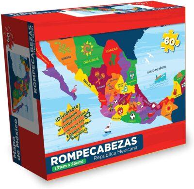 ROMPECABEZAS DE 60 PIEZAS DE LA REPUBLICA MEXICANA - NOVELTY