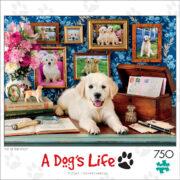 ROMPECABEZAS DE 750 PIEZAS DE PERROS PERDIGUEROS (A DOG'S LIFE) - BUFFALO