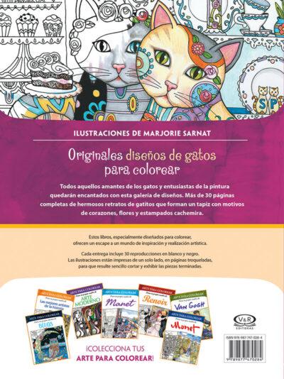 ARTE PARA COLOREAR DE GATOS - V&R EDITORAS