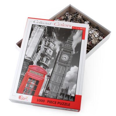 ROMPECABEZAS DE 1000 PIEZAS DE CASETA TELEFONICA EN LONDRES