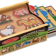 4 ROMPECABEZAS MINI DE ANIMALES - MELISSA AND DOUG