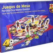 EN 1 DE LA FCB BARCELONA (PARCHÍS-OCA-MEMO-DOMINÓ)