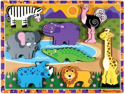 ROMPECABEZAS DE 8 PIEZAS DE ANIMALES DEL SAFARI - MELISSA AND DOUG