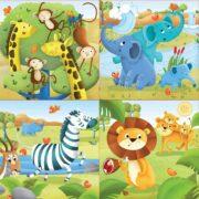 ROMPECABEZAS PROGRESIVO DE ANIMALES SALVAJES (4 EN 1) - EDUCA