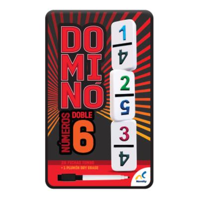 DOMINO DOBLE 6 (NÚMEROS) - NOVELTY