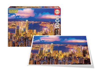 ROMPECABEZAS 1000 PIEZAS HONG KONG NEON - EDUCA
