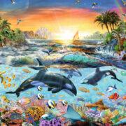 ROMPECABEZAS DE 200 PIEZAS DE PARAÌSO DE ORCAS - RAVENSBURGER