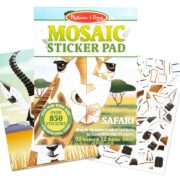 BLOC DE STICKERS DE MOSAICO DEL SAFARI - MELISSA AND DOUG