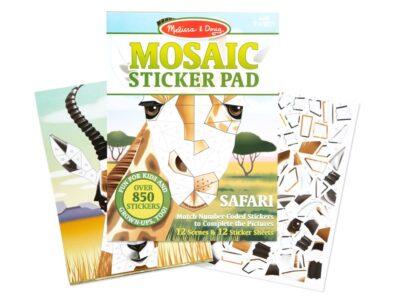 BLOC DE STICKERS DE MOSAICO DEL SAFARI - MELISSA AND DOUG