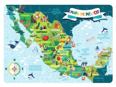 ROMPECABEZAS DE 100 PIEZAS DE MAPA DE MÉXICO - NOVELTY