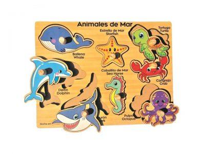 ROMPECABEZAS DE 8 PIEZAS DE PIJAS CON ANIMALES DEL MAR