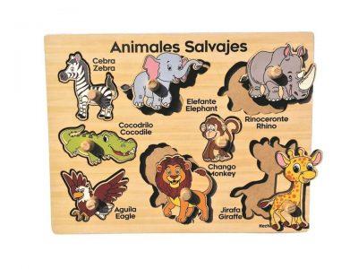 ROMPECABEZAS DE 8 PIEZAS DE PIJAS CON ANIMALES SALVAJES