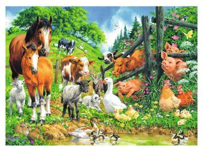 ROMPECABEZAS DE 100 PIEZAS DE ANIMALES DE LA GRANJA - RAVENSBURGER