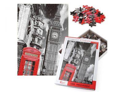 ROMPECABEZAS DE 1000 PIEZAS DE CASETA TELEFONICA EN LONDRES - HAO XIANG
