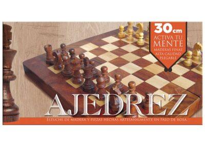 AJEDREZ DE MADERA 30 X 30 CM - NOVELTY